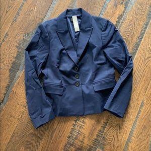 J Crew petite pelum blazer bi section cotton L7635